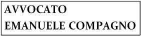 Studio legale avvocato Emanuele Compagno